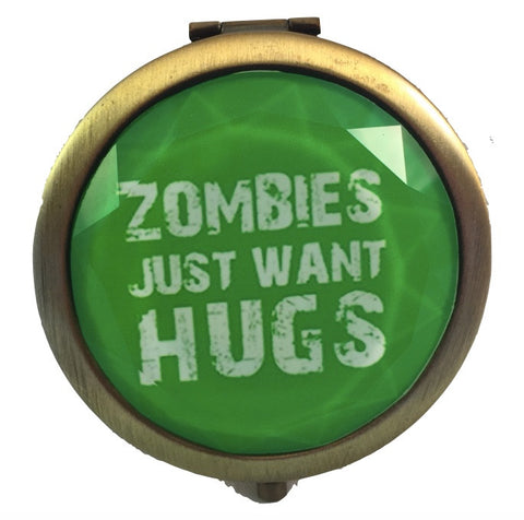 Zombies Just Want Hugs - Compact Mirror