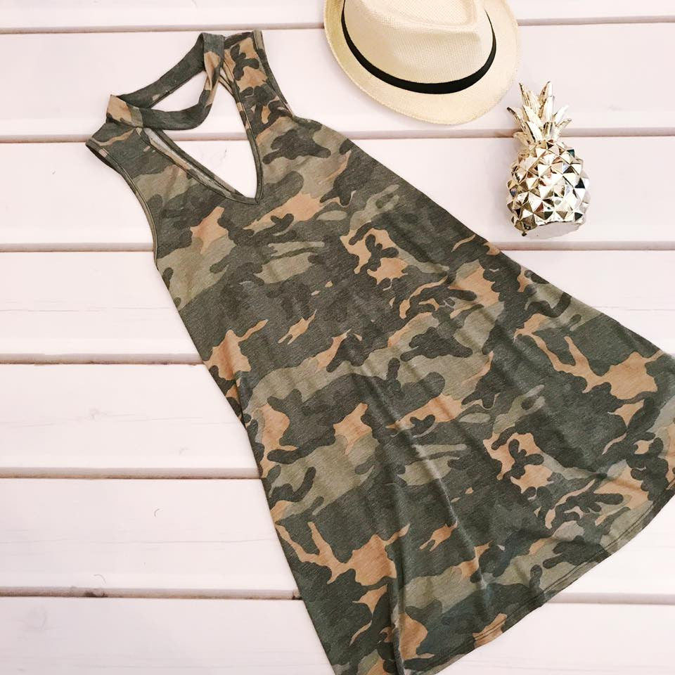 At Attention Camo Dress