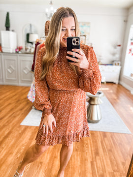 Something About It Dress in Caramel