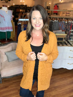 Cozy Days Cardigan in Mustard
