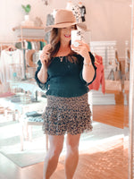 Layers of Leopard Skirt