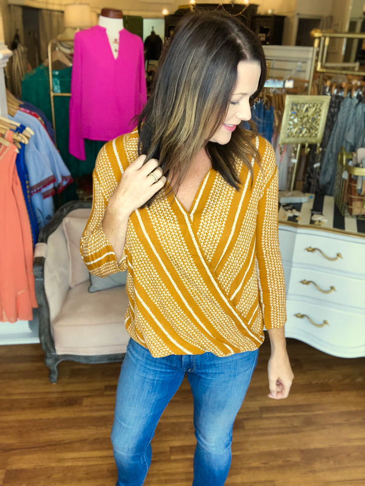 Stylish at Work Top in Mustard