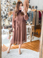 Chic Mentions Dress in Brown