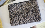 Leopard Everly Clutch