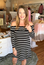xWe've Come So Far Striped Dress
