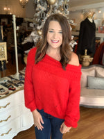Impress Me Sweater in Red