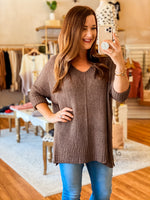 Clearly Yours Sweater in Brown