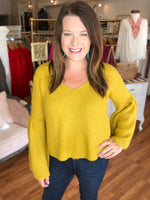 Bella Flare Sweater in Mustard