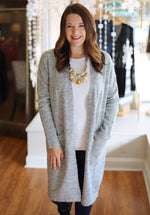 Take Me Out Cardigan in Gray
