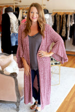 Love You a Latte Kimono in Wine