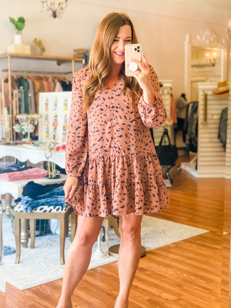 Believe in Me Dress in Cocoa