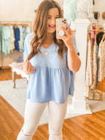 Vivian Top in Blue