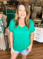 Pocket Tee in Green