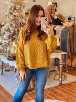 Just Be You Sweater in Mustard