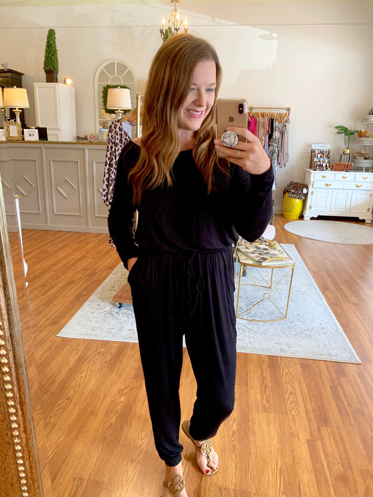 Everyday Cozy Jumpsuit in Black