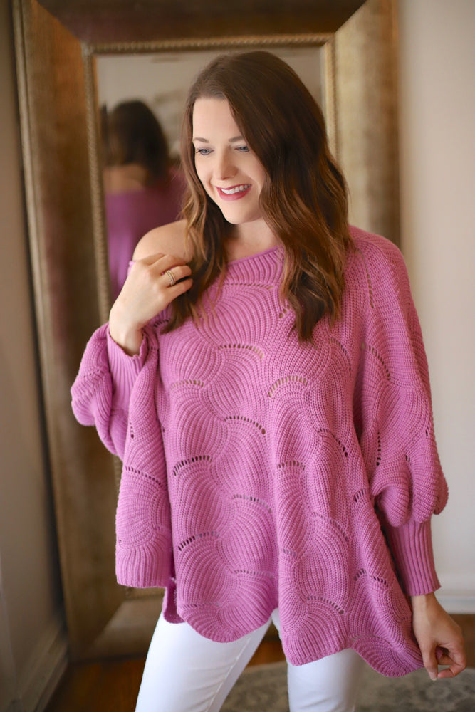 Can't Shake It Sweater in Lilac