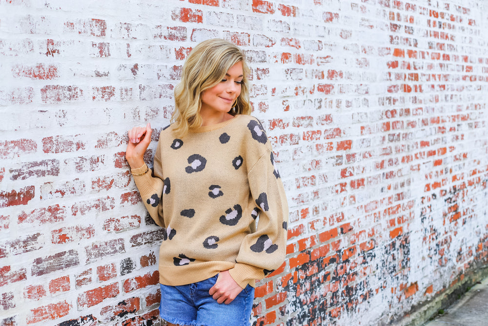 Can't Believe It Sweater in Taupe