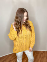 Share the Love Sweater in Mustard