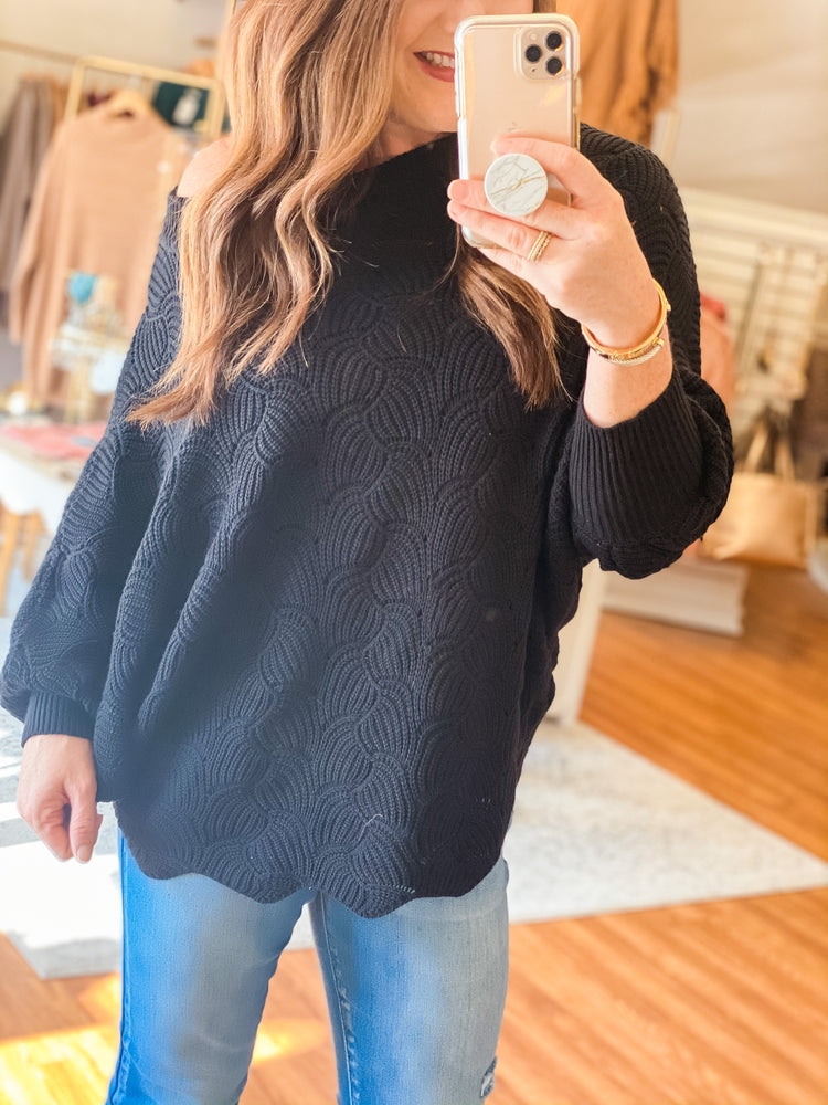Feeling the Love Sweater in Black