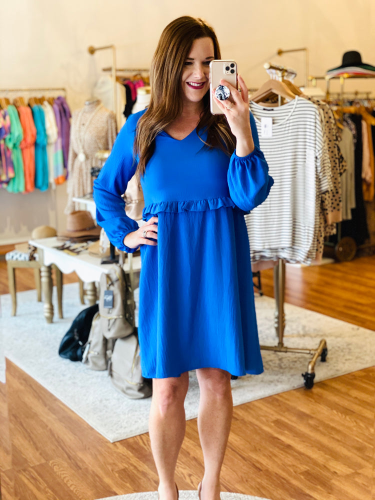 Cool Cobalt Dress