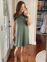 The Life You Love Dress in Olive