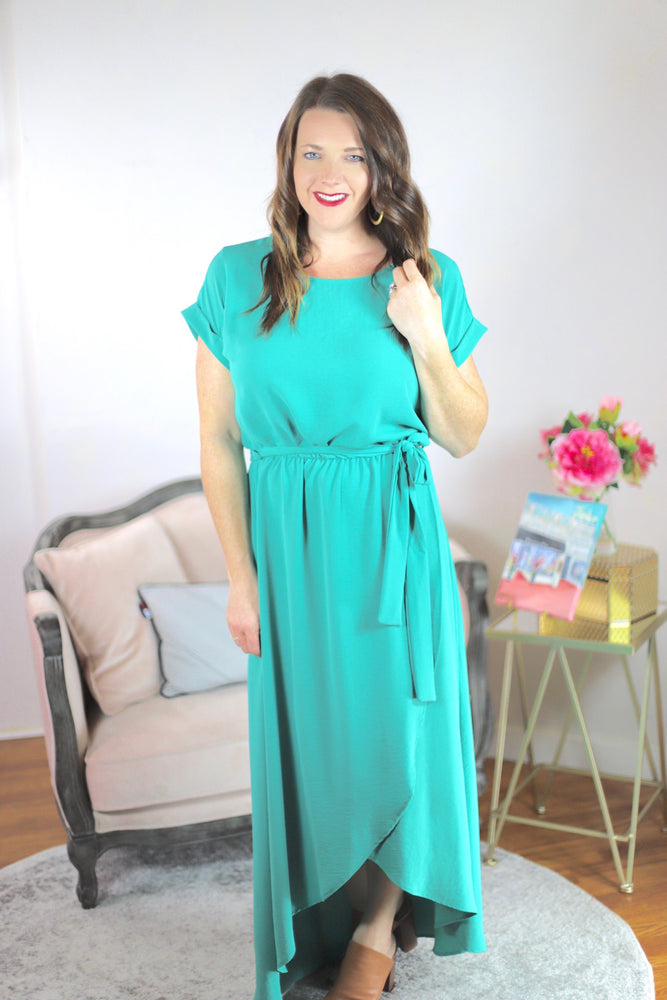 Spring Gala Dress in Teal