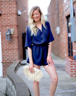 After Dark Romper in Navy