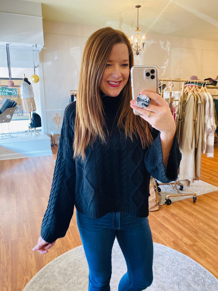 Holidays are Here Sweater in Black
