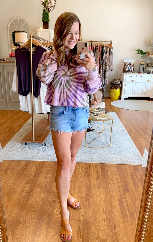 Happy Vibes Top in Purple