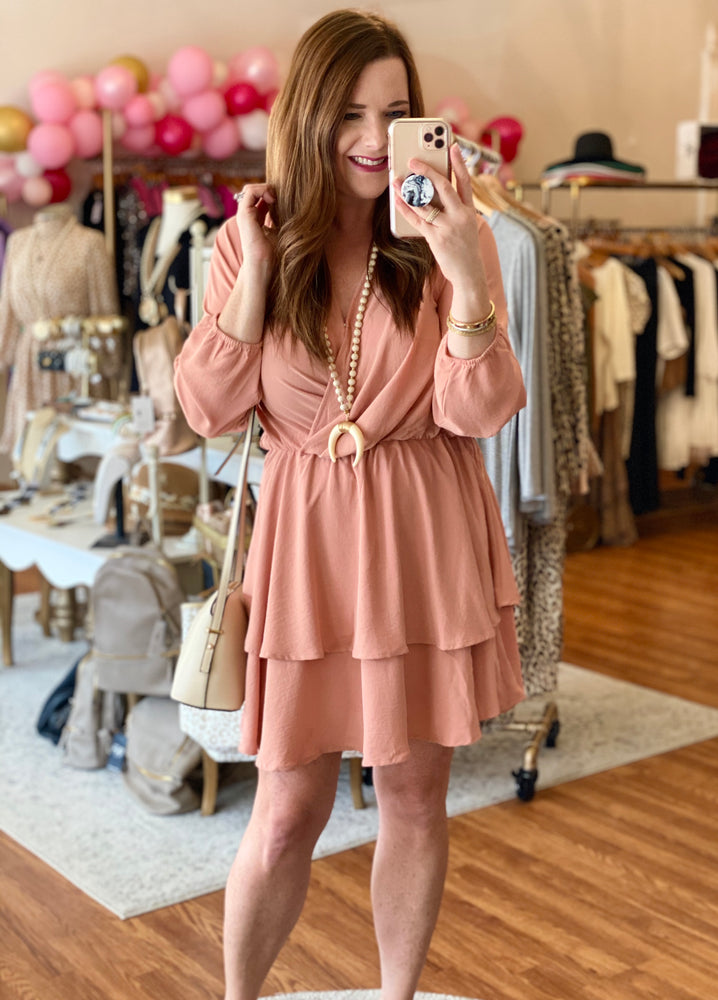 Spring Essential Dress in Peach
