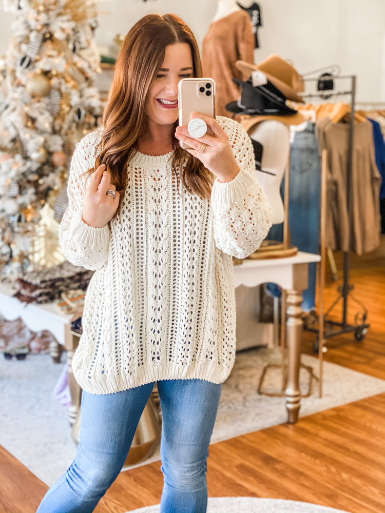 Share the Love Sweater in Ivory