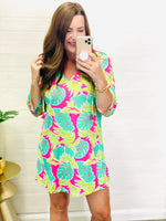 Totally Tropics Tunic in Pink