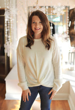 In The News Sweater in Ivory