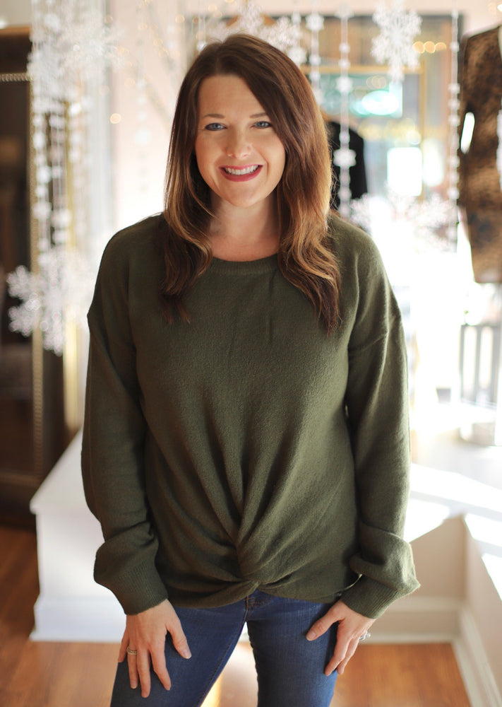 In The News Sweater in Olive