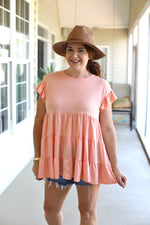 Pleased to Meet You Top in Coral