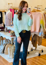 All About Comfort Sweater in Mint