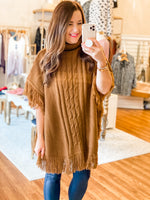Cara Poncho in Brown