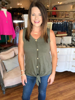 Summer is Never Ending Tank in Olive