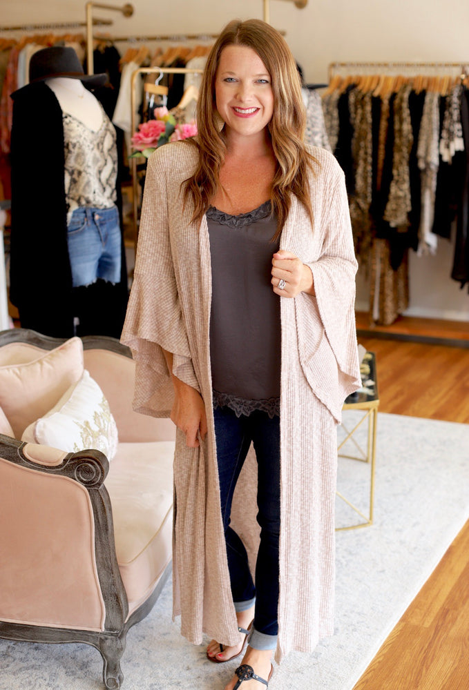 Love You a Latte Kimono in Latte