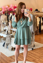 Spring Essential Dress in Sage