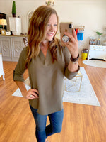 Keeping Chic Top in Olive