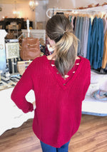 Pick Me Sweater in Cranberry