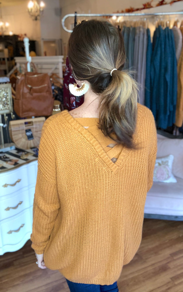Pick Me Sweater in Mustard
