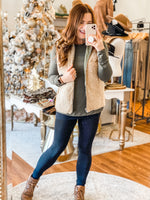 Cozy Winter Vest in Olive