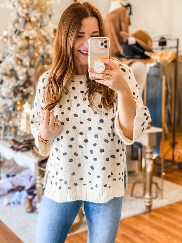 Fab Outcomes Sweater in White