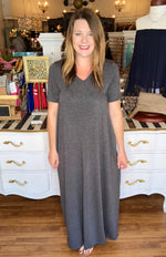 Everyday Comfy Maxi Dress in Charcoal