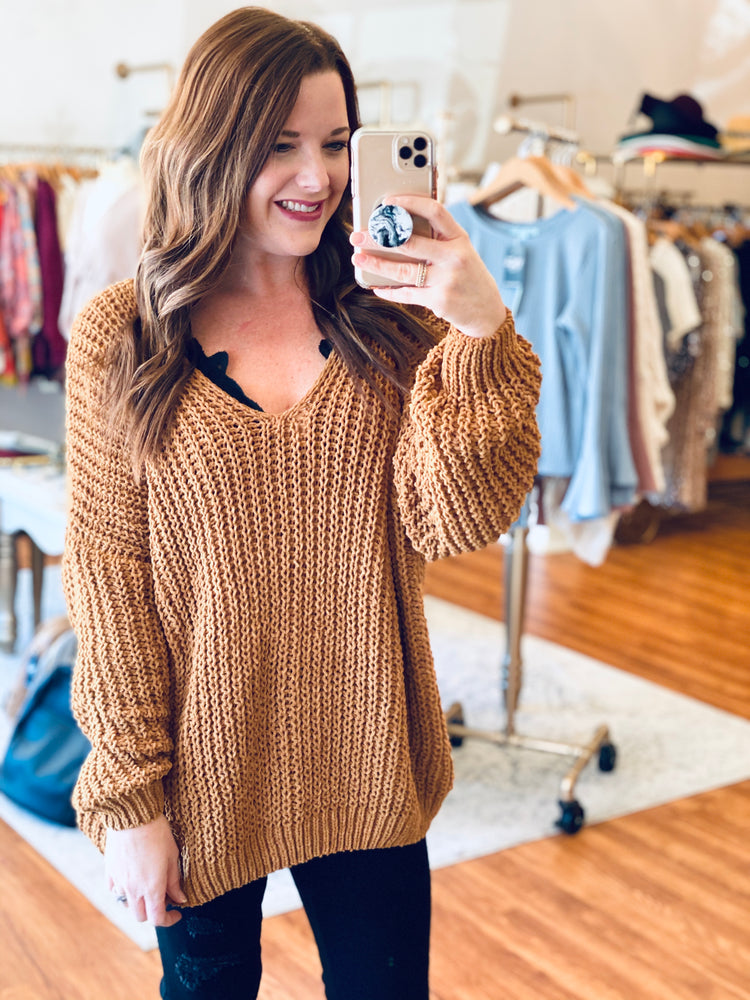 Favorite Day Sweater in Camel