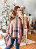 Mad for Plaid Poncho