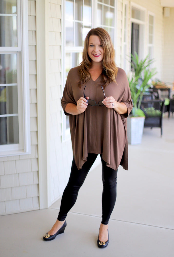 Perfect Poncho in Tan