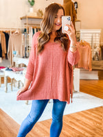 Clearly Yours Sweater in Antique Coral